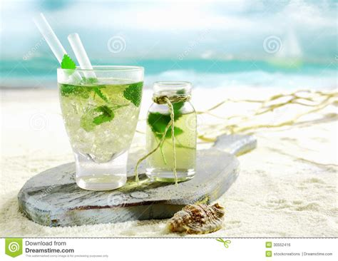 Bichi Liquid mojito cocktail served on a tropical stock photo image 30552416