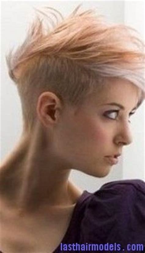 feminine mohawk brown highlights mohican hairstyle globezhair