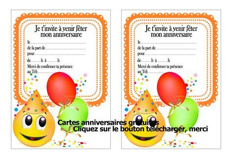carte d invitation anniversaire enfant invitation
