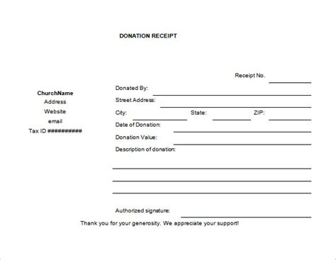 donation receipt form template 10 donation receipt templates doc pdf free premium