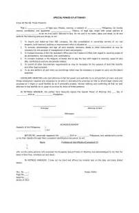 special power of attorney template doc 638826 sle special power of attorney form