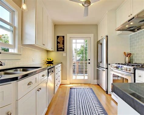 Ideas For Narrow Kitchens by 4 Decorating Ideas How To Make A Galley Kitchen Look