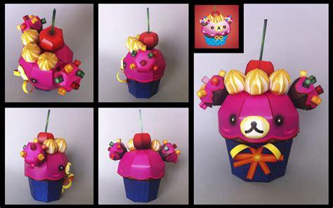 Papercraft Cupcake - korilakkuma cupcake papercraft by ikarusmedia on deviantart