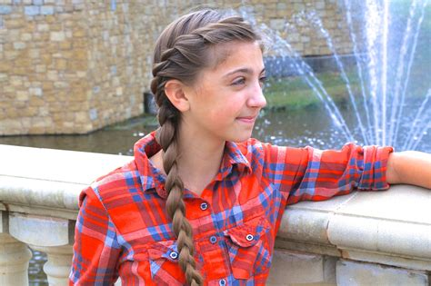 braids into a french roll with sides shaved simple braid styles cute girls hairstyles