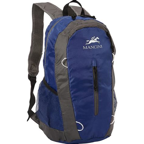 Lightweight Backpack With Pouch mancini pack em in packable lightweight travel backpack