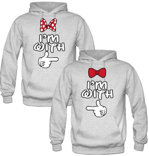 Matching Him And Clothes I M With I M With Him Mickey Minnie Sweatshirt