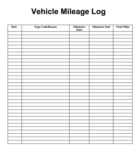 vehicle mileage log book template 7 vehicle mileage log templates word excel pdf formats