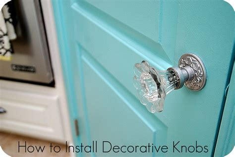 How To Replace Door Knobs by How To Install Decorative Doorknobs