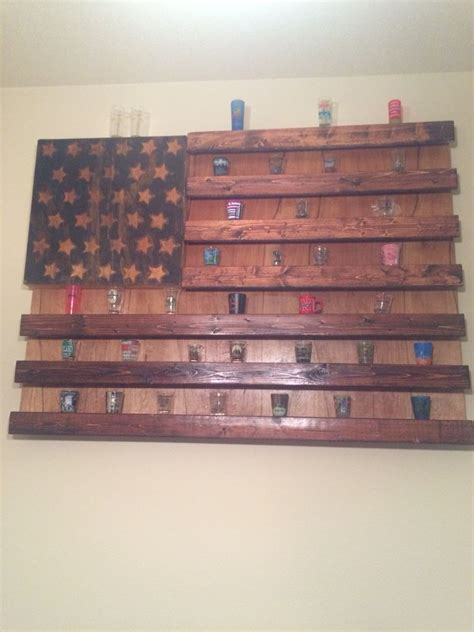 shot glass holder rustic american flag shot glass display completed