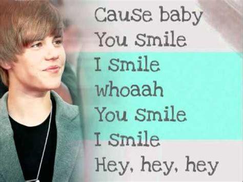Justin Bieber U Smile Lyrics Song | justin bieber u smile lyrics youtube