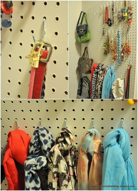 Pegboard Closet Organizer by 15 Bedroom Closet Hacks You Need In Your