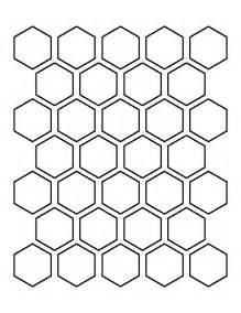 printable 1 5 inch hexagon template
