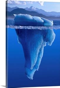 view   iceberg     surface   water wall art canvas prints framed