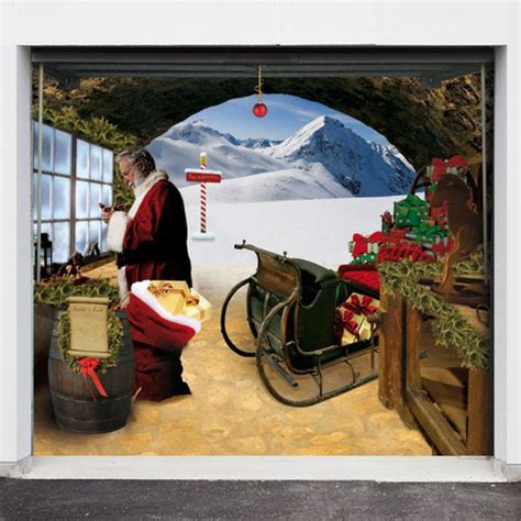 garage door covers style your garage garage door 3d designs for christmas 10 pics izismile com