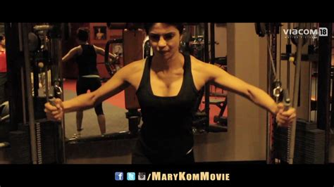 priyanka chopra gym photos priyanka chopra trains hard for mary kom indiatimes