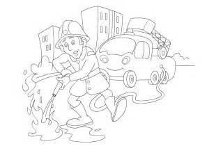 occupations coloring pages color fire figther