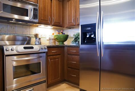 brown kitchen appliances pictures of kitchens traditional medium wood cabinets