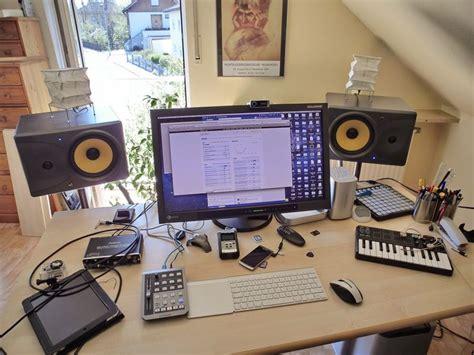 Home Recording Studio Using Mac A Look At My Desk A Eizo Sx2762w 27 Quot Display Mac Mini