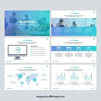 presenting a business template powerpoint presentation vectors photos and psd files