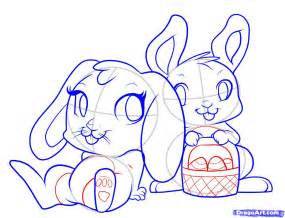 doodle draw easter bunny easter bunny drawing only coloring pages