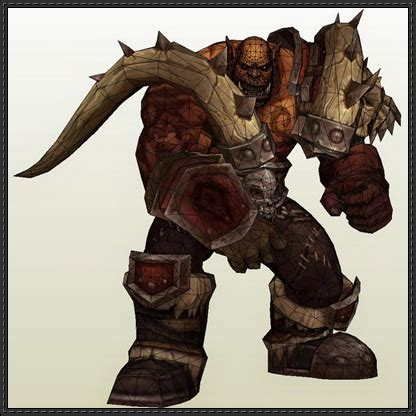 Wow Papercraft - world of warcraft garrosh hellscream free papercraft
