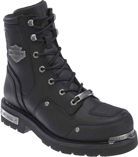 black motorcycle riding boots harley davidson men s lockwood 7 5 inch black motorcycle