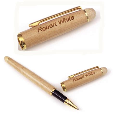 personalized laser engraved wooden pen