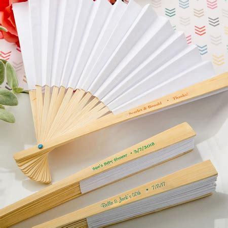 personalized folding fans for weddings personalized white paper fan wedding favors destination