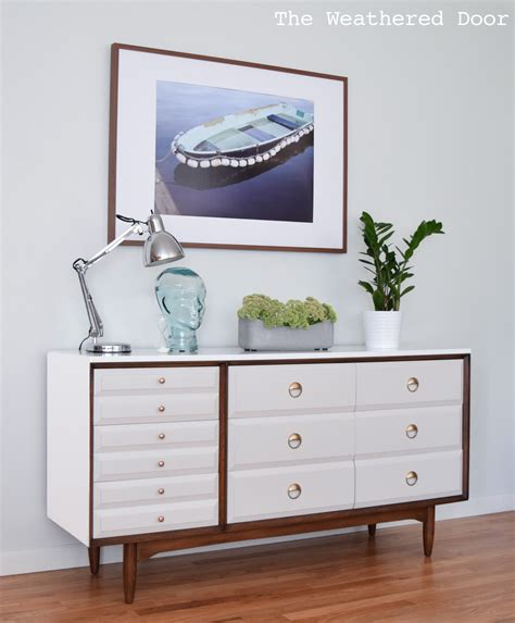 mid century modern file bamboo nightstand makeover