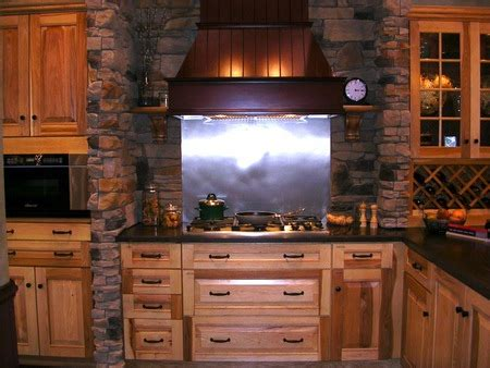 large rustic kitchen design with faux red brick backsplash and oak rustic brick kitchen houses architecture background