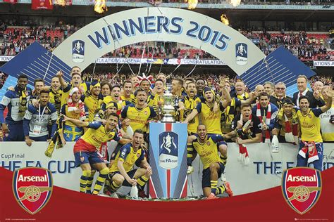 arsenal fc fa cup winners 14 15 poster sold at europosters