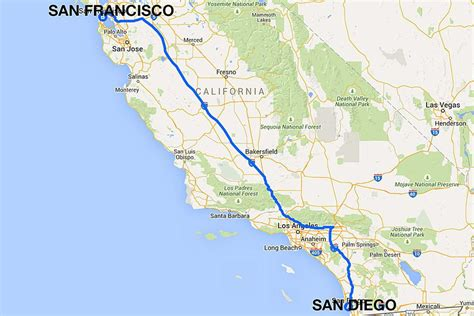 san francisco map traffic san diego to san francisco all the ways to travel