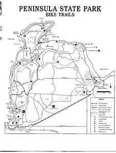 Peninsula State Park Map by Peninsula State Park Bike Trail