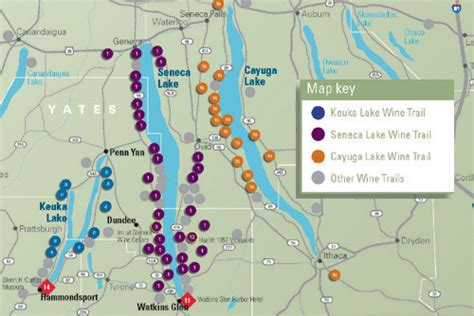 cayuga lake wine trail map finger lakes of new york state apple forum