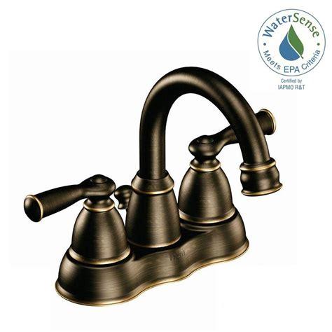 moen banbury bathroom faucet bronze