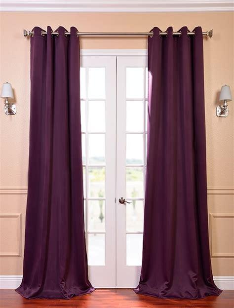 aubergine velvet curtains aubergine grommet blackout curtain contemporary