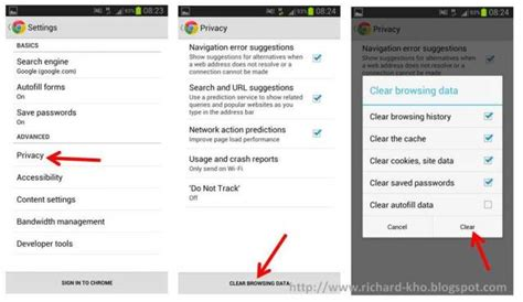 delete cookies on android delete cookies on android 28 images how to delete cookies on android android版chromeブラウザの