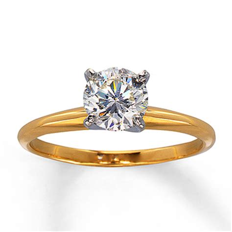jewelers 1 carat solitaire engagement ring in 14k