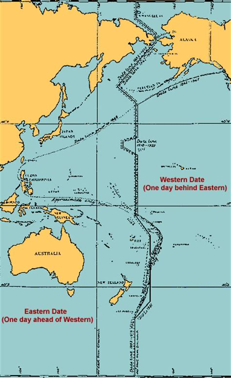 international date line map the international date line