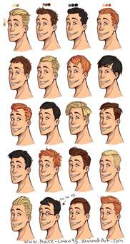 drawings of 1950 boy s hairstyles 20 diffrent men haircuts by marre chan95 drawing