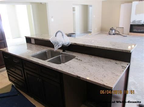 Colonial Countertop - this picture shows a colonial white granite countertop