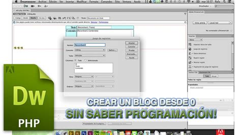tutorial dreamweaver cs6 español pdf tutorial dreamweaver crear blog sin saber programar by