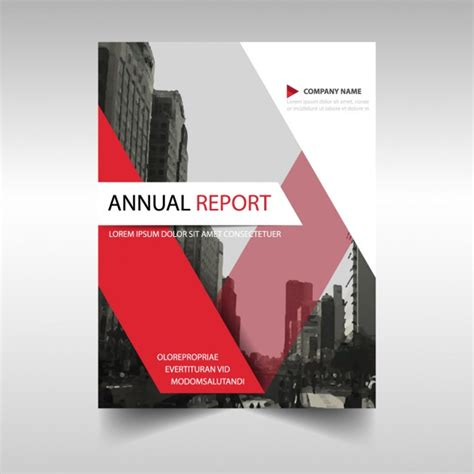 Free Report Cover Templates Annual Report Cover Template Vector Free