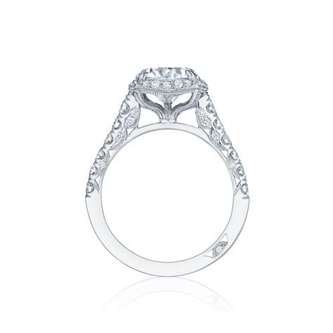 Pave diamond engagement ring   DK Gems