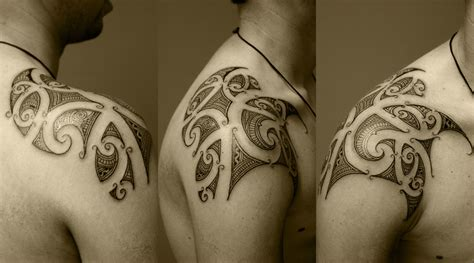 tattoo design new zealand maori shoulder tattoo design