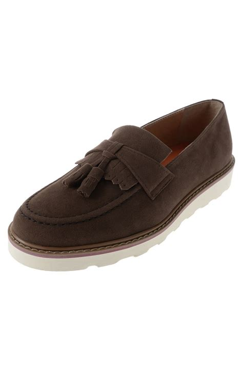 loafers shoes korean fashion mens brown synthetic suede tassel loafers