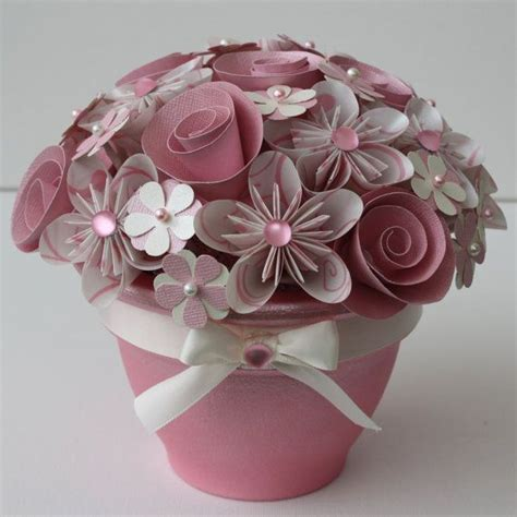 potted paper flower ideas potted paper flower bouquet cotton flower pots flower bouquets cotton