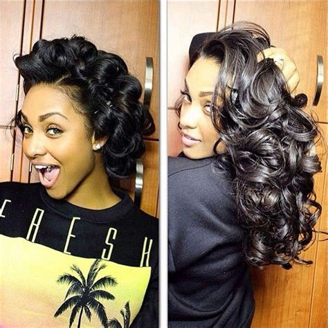 how to get loose waves in african american hair 25 best ideas about pin curls on pinterest vintage