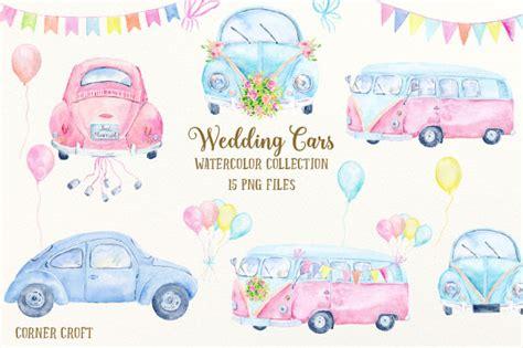 wedding car clipart wedding car clip watercolor wedding cars cervan and