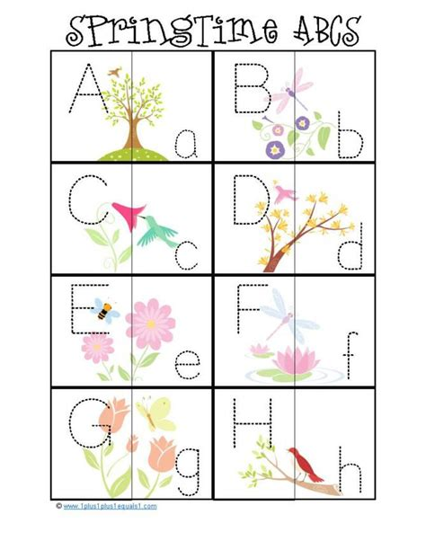 printable spring preschool activities 1 1 1 1 spring fun